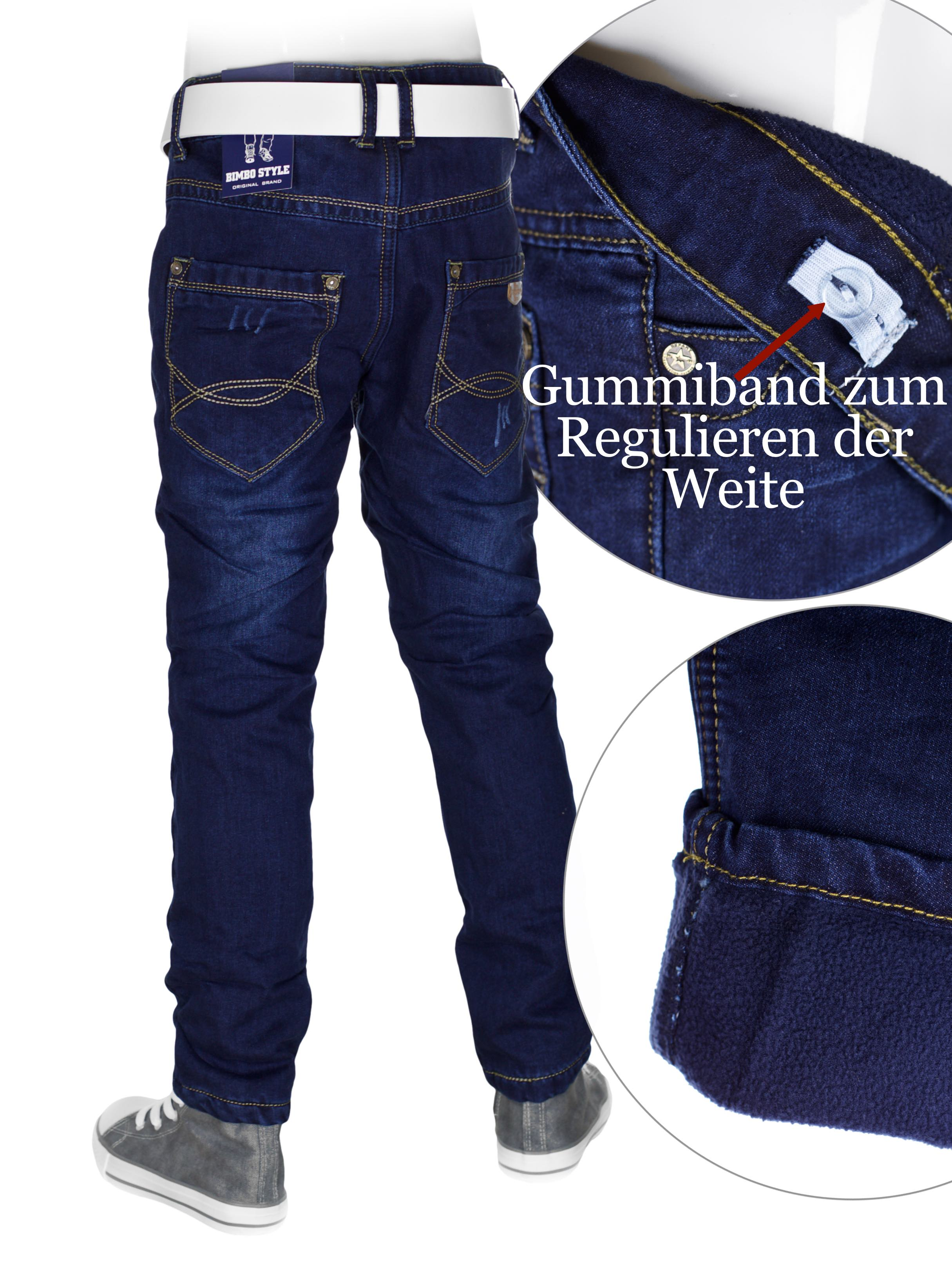 Kinder Thermohose Neu Jungen Thermohose Thermojeans Hose Jungen Jeans Bis 158